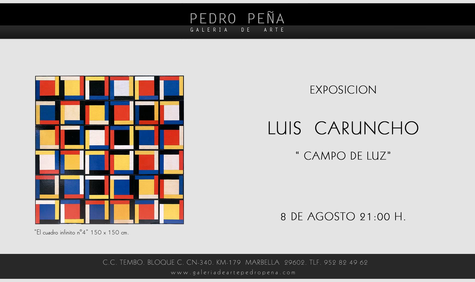 """EXPOSICIÓN """"CAMPO DE LUZ"""" DE LUIS CARUNCHO"""
